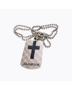 JAJAFOOK Mens Womens Vintage Stainless Steel Cross Pendant Necklace